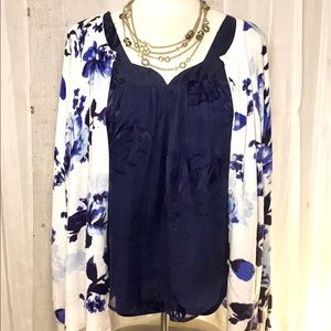 👗 George Cardigan, Blue Floral Pretty